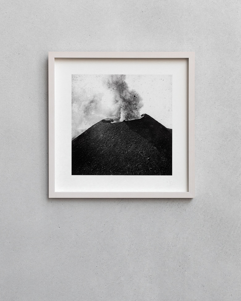 blackprint edition - karo edition Nr.005, antique photography on glass of the Mount Vesuvius, Italy 1880