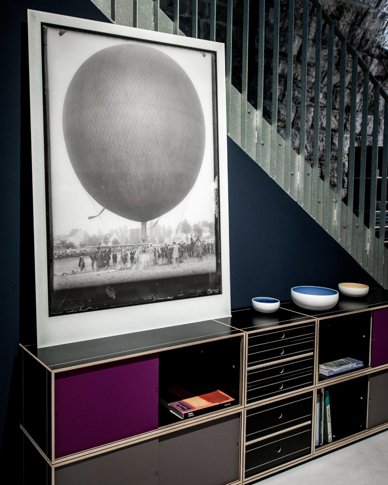 blackprint edition - Limited edition of an original antique negative on glass of a hot air balloon circa 1900