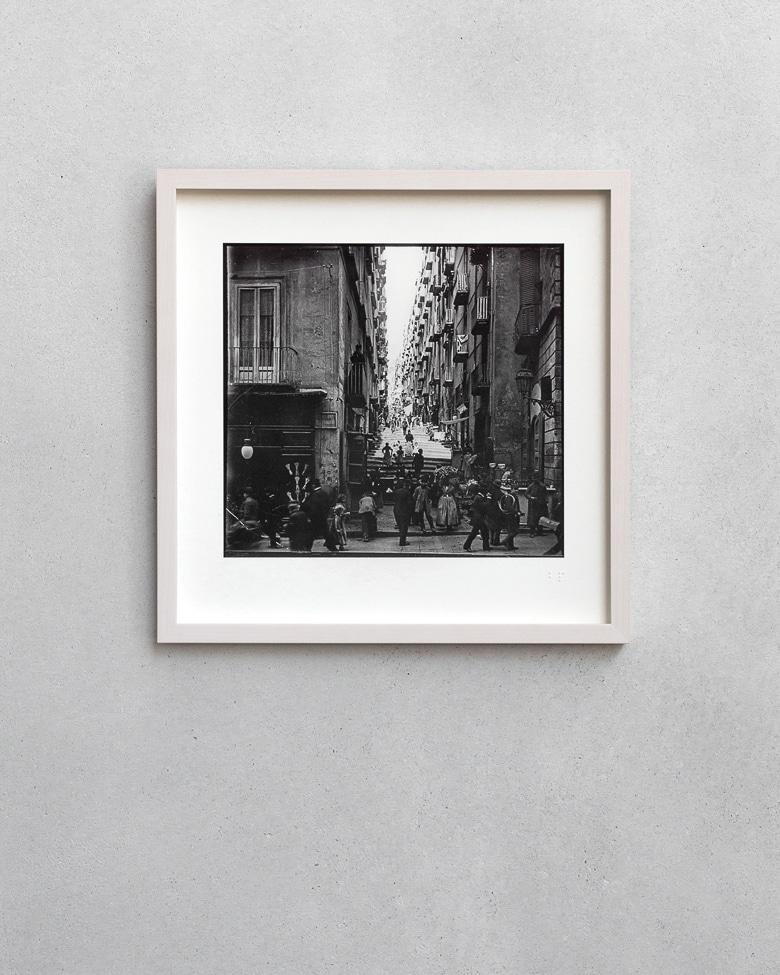 blackprint edition - karo edition Nr.021, antique stereoview photography on glass of Napoli (Napoli Chiaia)
