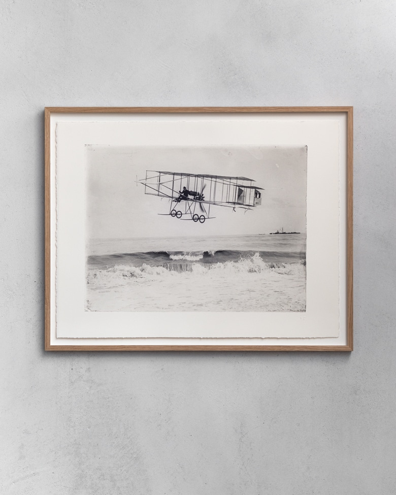 blackprint edition - Henry Farman biplane HF-II ca.1909, Limited edition numbered with frame