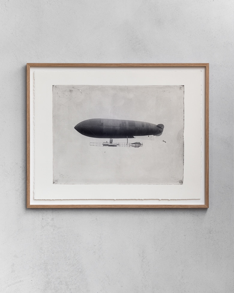 blackprint edition - ZODIAC airship ca.1910, Limited edition numbered - with frame